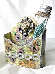 Flower Pocket Desk Organizer