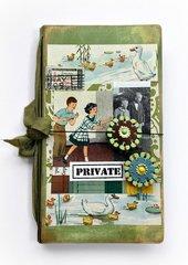 Sizzix Heartfelt Journal....Vintage