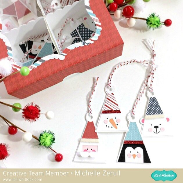 Holiday Gift Tags with Storage Box