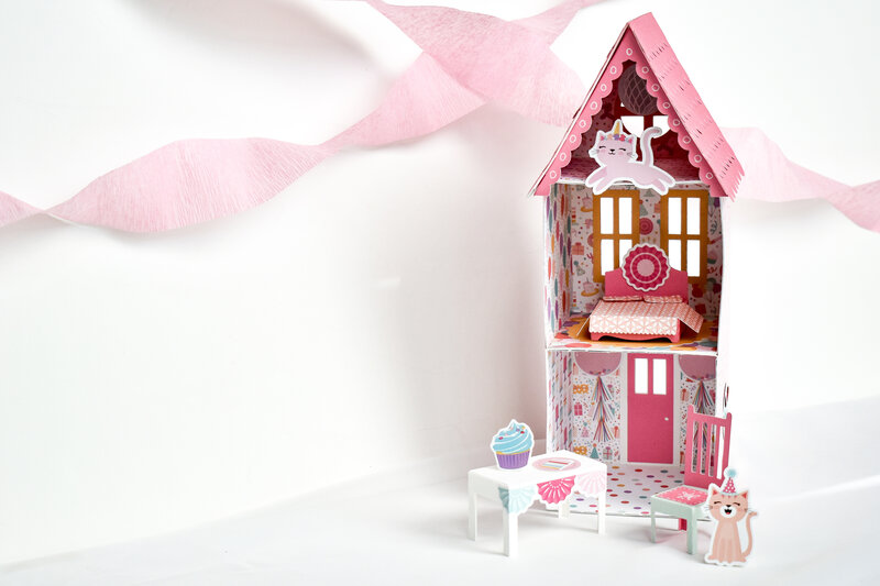 It's Your Birthday Girl Doll house Dollhouse