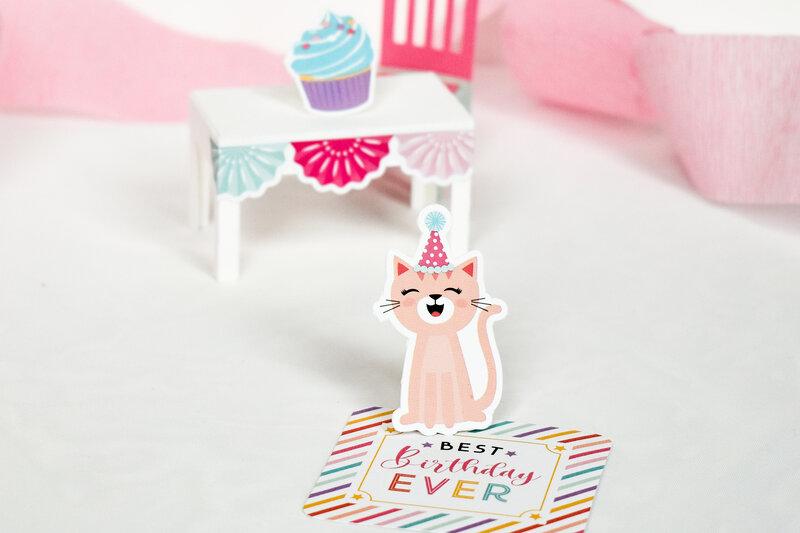 It's Your Birthday Girl Doll house Dollhouse