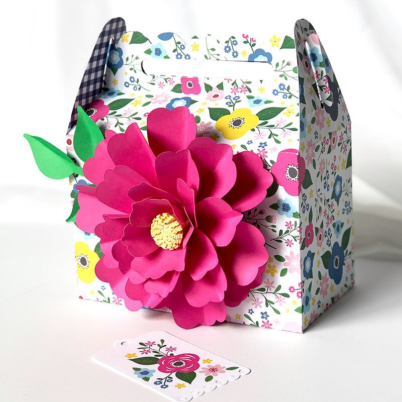 I Love Summer Gable Box with Paper Flower