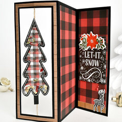 Lumberjack Christmas Z Fold Spinner Shaker Card Set