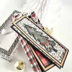 Lumberjack Christmas Z Fold Spinner Shaker Card Set