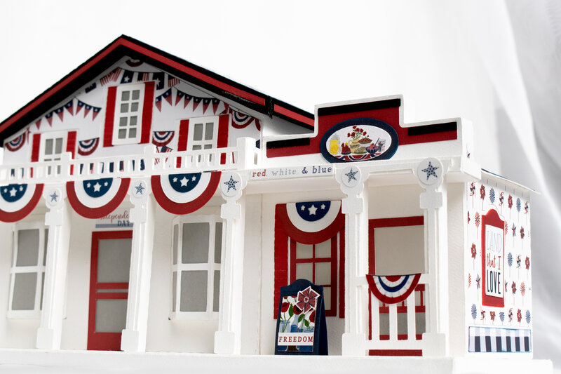 "Echo Park Paper America the Beautiful ""Main Street America"""