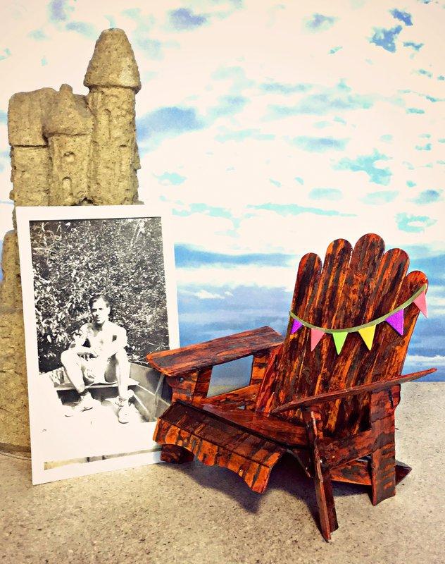 Vintage Travel Adirondack Chair