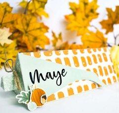 Thanksgiving Corn Treat Box Placecard