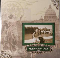 Memories of Italy Introduction page of Album