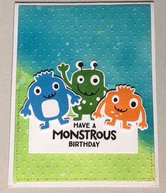Monstrous Birthday Card
