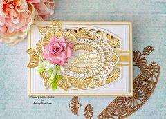 Amazing Paper Grace Fan Flower Transom Card