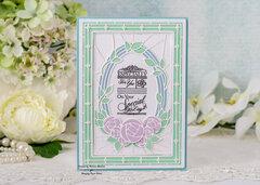 Deco Blooms Birthday Card