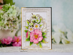 Amazing Paper Grace - Stained Glass Deco Bloom card