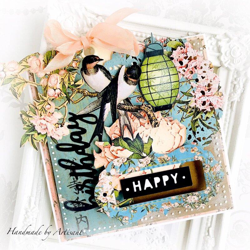 """""""Bird Song"""" birthday card"""