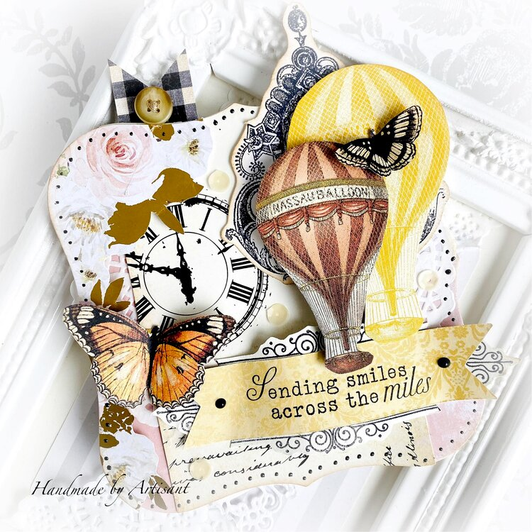 """Sending smiles across the miles"" card"