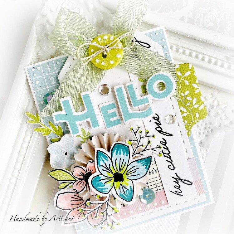 """""""Hello cutie pie"""" card"""