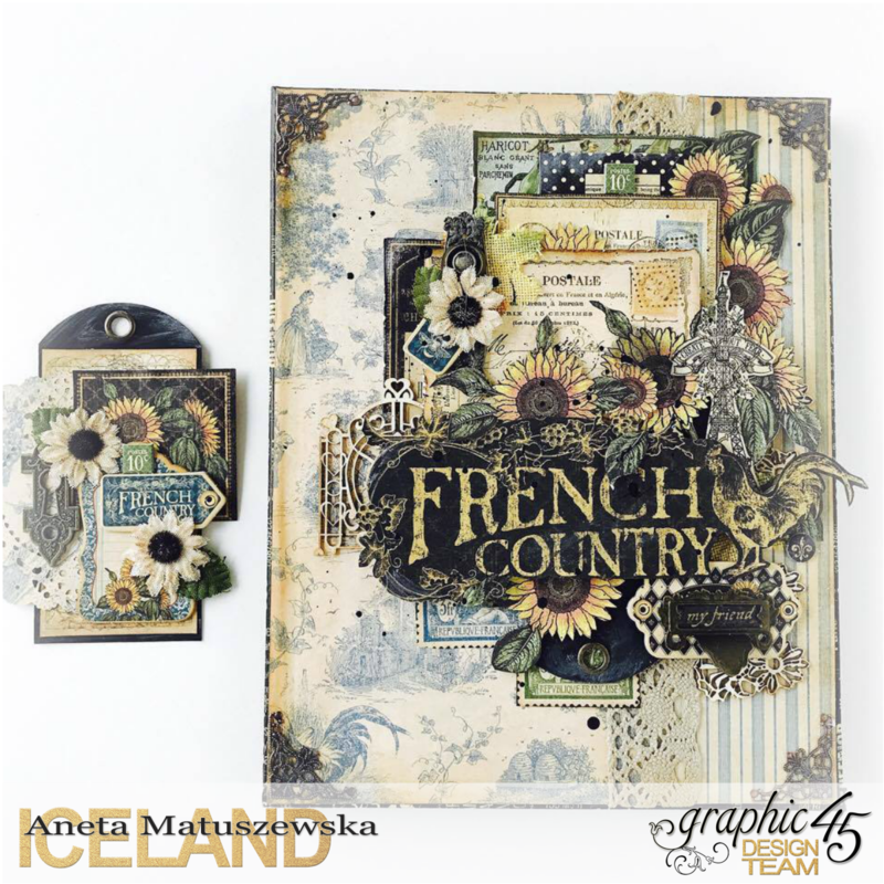 French Country canvas and tag
