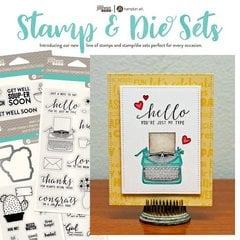 Jillibean Soup has the cutest Die and Clear Acrylic Stamp Sets