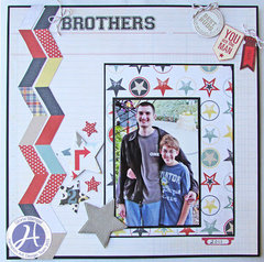 Brothers layout by Gloria Stengel