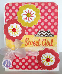 Sweet Girl card by Kimber McGray