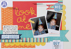 Look at Me layout by Kim Holmes