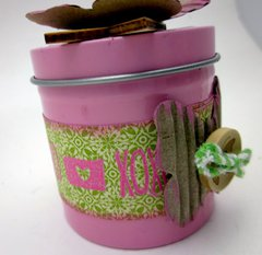 Small Pink Canister by Gini Williams