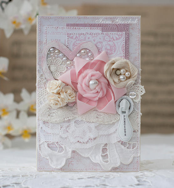 "Shabby card ""Vintage flowers"""