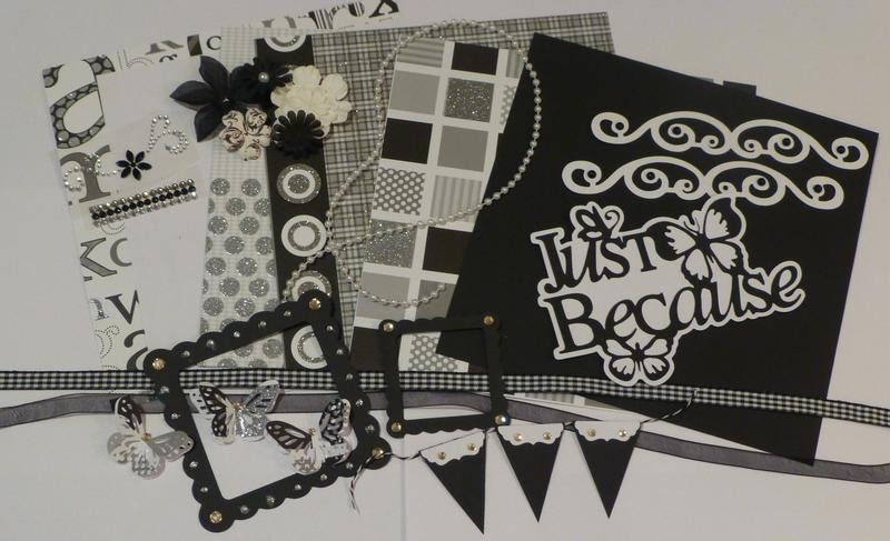 Black/White/Diamonds Kit