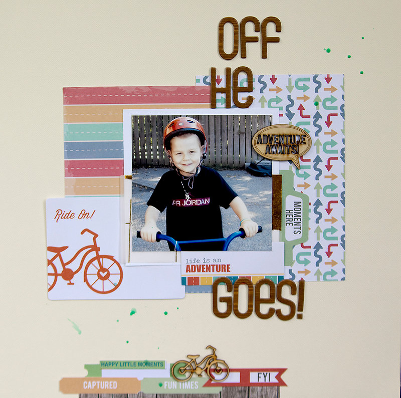 Off He Goes + PROCESS VIDEO {CHIC TAGS}