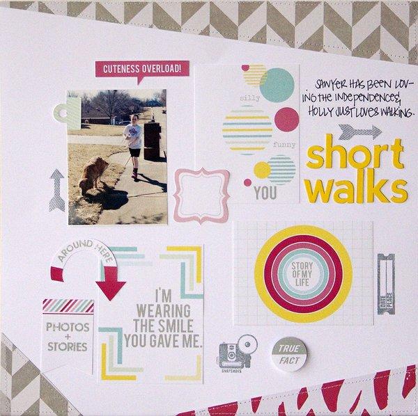 Short Walks + PROCESS VIDEO {Chic Tags}