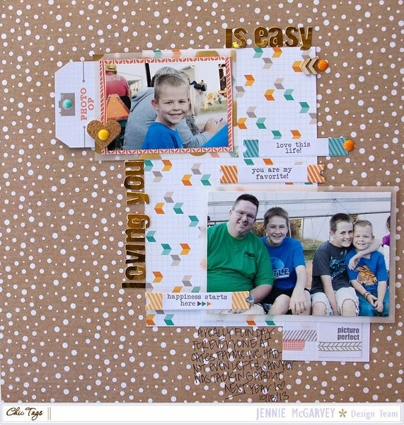 Loving you is easy {Chic Tags} + process video