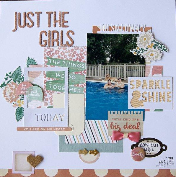 Just the girls {scraptastic club+ process video}