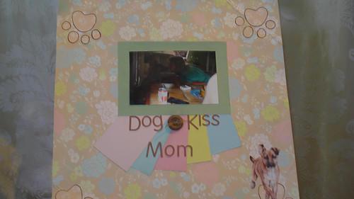 dog kiss mom