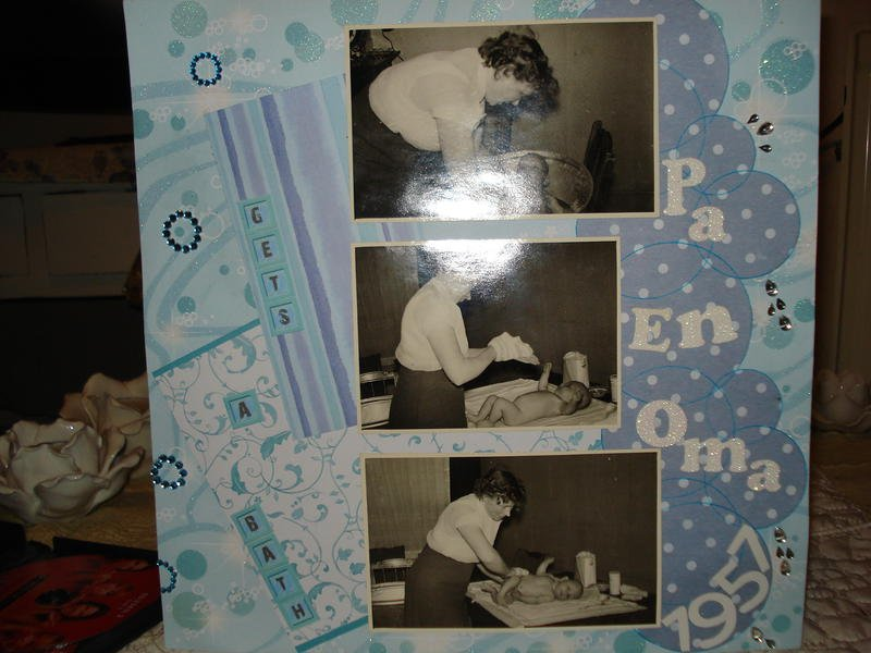 gets a bath pa & oma 1957