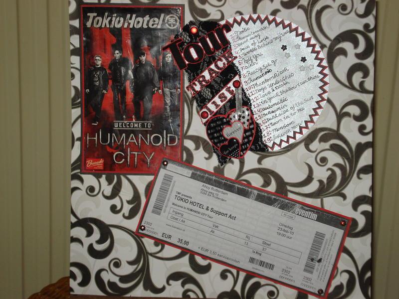 tourtracklist,poster & concertkaartje