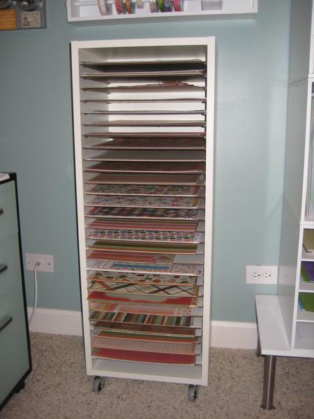Scrapbook Paper Storage