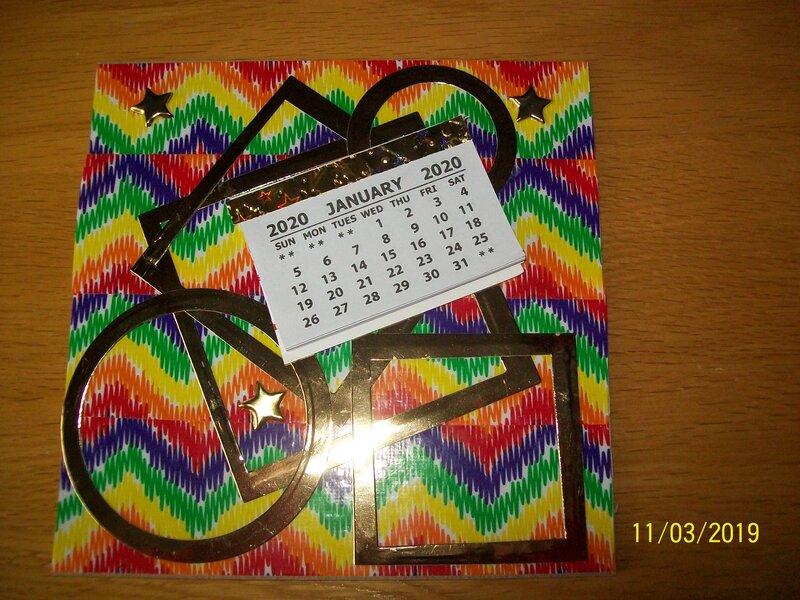 Rainbow duck tape calendar