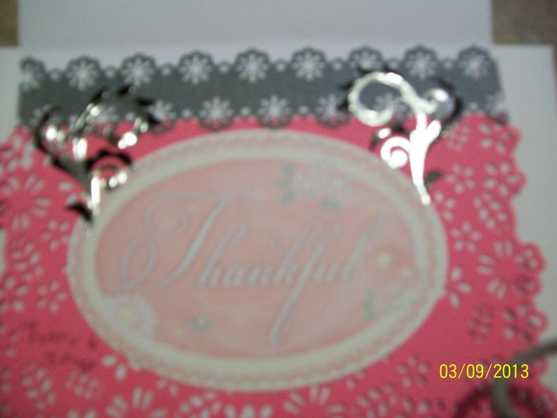 Breast Cancer Awareness/inside of card