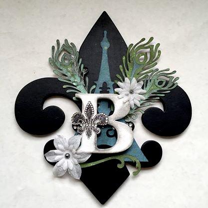 Altered letter Fleur de lis B