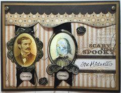 Spooky Couple card