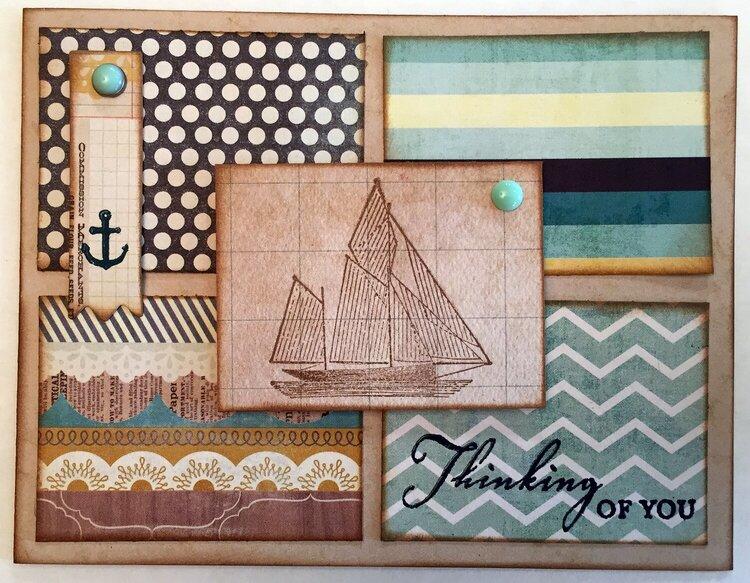 Masculine Nautical card