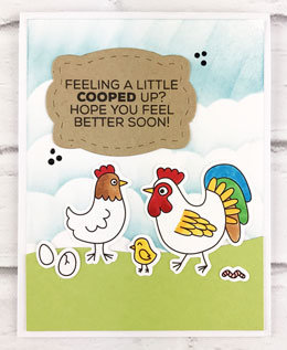 Cooped Up Chicken Family Card