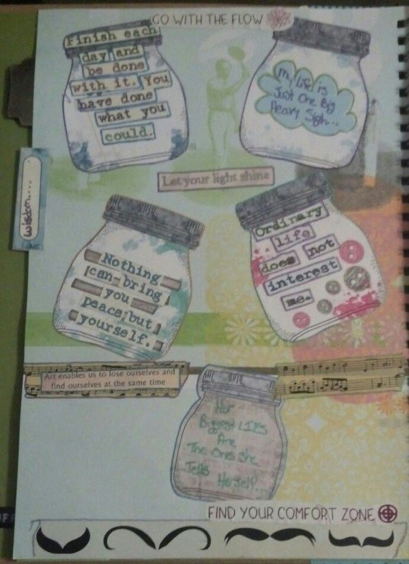 Jars of wisdom Smash Book Page