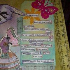 She was beautiful.. Art Journal page..