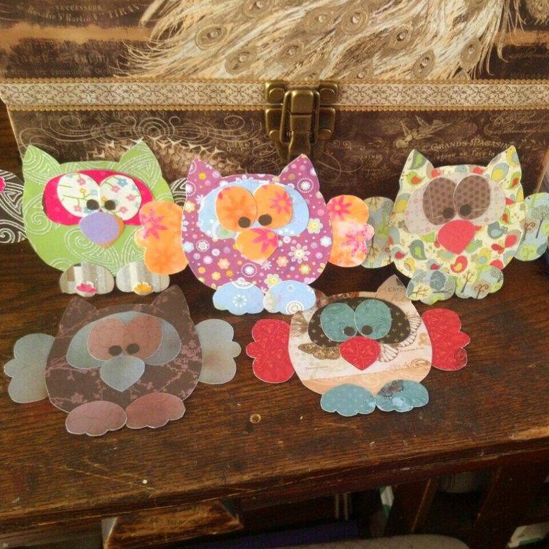 Scrap Paper Owls...