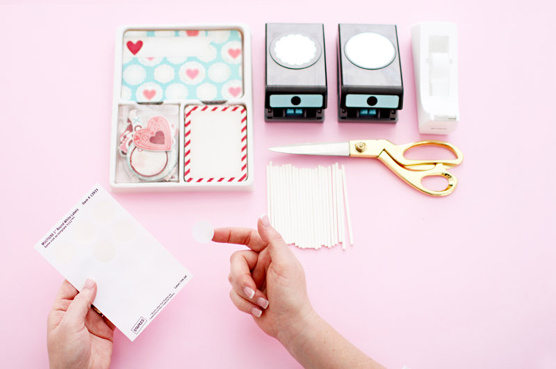 Valentine DIY Cupcake Toppers using Project Life Mini Kit