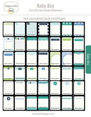 Project Life Baby Boy Core Kit Card Reference