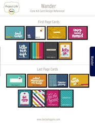 Project Life Wander Core Kit