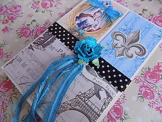 Marie Antoinette Inspired Card