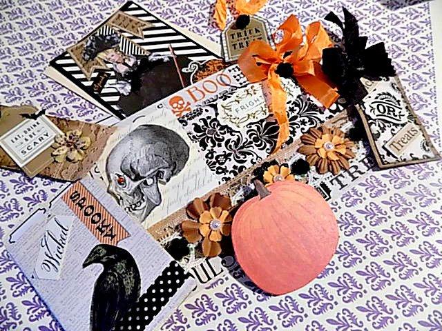 Halloween Stuffed File Folder - Journal
