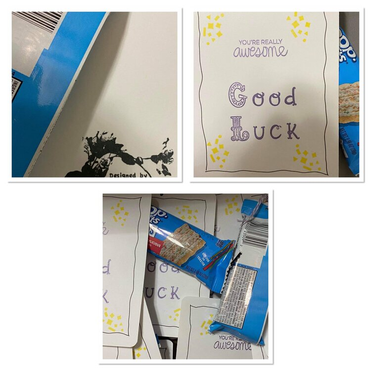 Mini good luck posters for High school students going to State Track